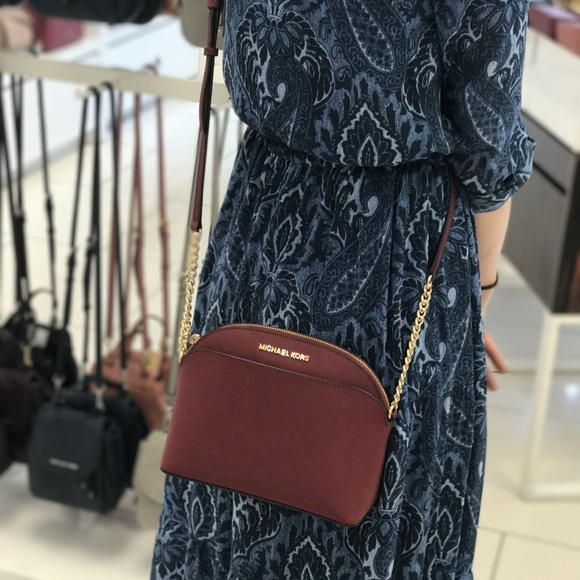 0e0c8f622266 Michael Kors Bags | Saffiano Leather Emmy Crossbody Bag | Poshmark
